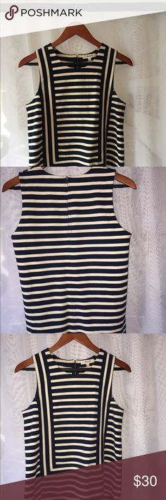 Women's knit striped tank Blue and White striped knit tank Madewell Tops Tank Tops