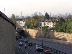 Shard, Gerkin, Eye and St Paul's seen from Leytonstone. Photo Martin Sepion.