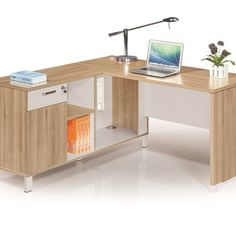 Stunning compact workstations in dual colour combination. Small, convenient 1400mm desk with pedestal ideal for single use, small offices or students. Stunning L Shape unit 1400*1400mm ideally suited for the office worker who needs more space, and this unit can be upgraded with a side attached open bookcase so your files are close by. For the mulit-use office we suggest the double seater cluster with a see-through privacy screen between workers. This unit is only 1600*1200mm  Boardroom Furniture, Used Office Furniture, Business Furniture, Small Office, The Office, Office Desk, Open Bookcase, Office Cubicle, Office Accessories