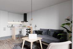 industrial decor = kitnet-branco-preto-cinza