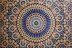 Zellij Tilework in Fes, Morocco