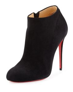 4252a56c4f4e Bellissima Suede Red Sole Bootie