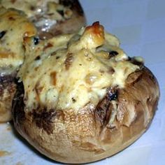 Best stuffed mushrooms! Easy and a little spicy but perfect with the creamy filling!