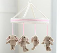 Light Pink Harper Bunny Mobile #PotteryBarnKids