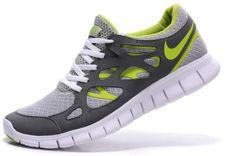 sneakers for cheap 2fdad fffd4 Free Run 2 Hombre Zapatillas Lumiere Gris Verde