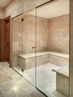 Gorgeous Steam Room [ AqualineSaunas.com ] #steamroom #premier #luxury