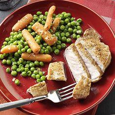 Apple Balsamic Pork Chops - 4 pork chops - olive oil - apple cider or juice - reduced sodium chicken broth - apple jelly - balsamic vinegar - butter