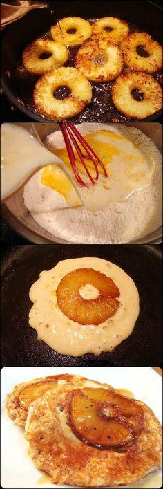Pineapple Upside-Down Cakes Pancakes!