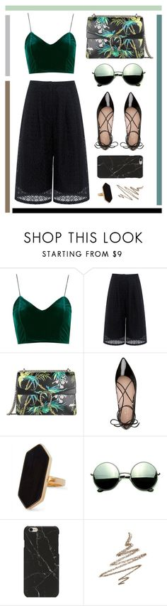 """Velvet"" by tl3central ❤ liked on Polyvore featuring Topshop, Edit, Gucci, Kate Spade, Jaeger, Revo and Anastasia Beverly Hills"