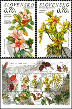 Nature Protection: Low Tatras National Park stamps from Slovakia
