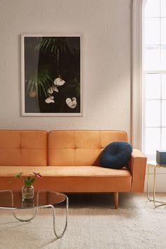Slide View: 2: Bella Velvet Sleeper Sofa