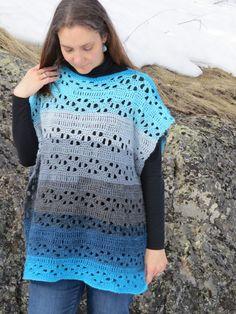 Easy Spring Poncho By Holly - Free Crochet Pattern - (highlandhillscrochet)