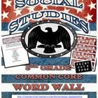5th Grade Social Studies Word Wall – Common Core  Liven up your classroom with a patriotic/Social Studies twist. This PDF has 42 word wall cards taken directly from the Social Studies Common Core. They also work great for bulletin boards. $3