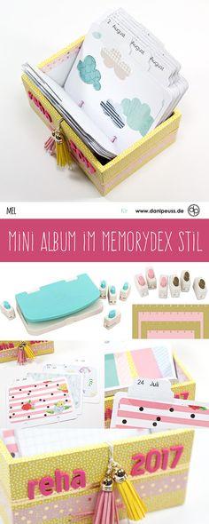 Mini Album im Memorydex Stil | von Mel für www.danipeuss.de | Scrapbooking, Mini Book, Project Life, Karten basteln und vieles mehr