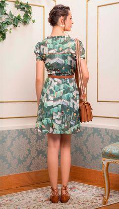 Vestido Cinto Esconde-Esconde Verde | Antix