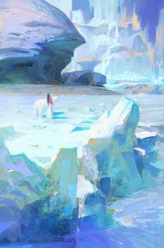 ArtStation - Recent practice, muyang xu Fantasy Landscape, Landscape Art, Wow Art, Environment Concept Art, Environmental Art, Art Background, Art Plastique, Pretty Art, Cool Drawings