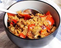 Couscousbowl mit Tomate und Paprika, gesundes Rezept