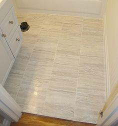 TrafficMASTER Ceramica 12 in. x 24 in. Groutable Vinyl Floor Tile ...