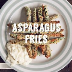 Combining our two favourite things - asparagus and aioli!