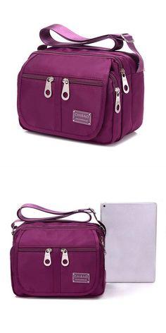 Multi Zipper Pocket Light Weight Crossbody Bags Casual Outdooors Sports Shoulderbags Messenger 9 Bag A Cross Body