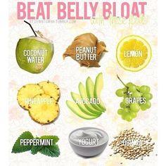 De-bloating belly foods. Source: Instagram userhealth_food_fit_