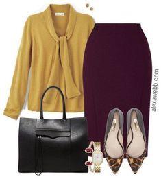 Plus Size Fall Work Outfit - Alexa Webb - Plus Size Work Outfits Plus Size Work, Plus Size Fall, Looks Plus Size, Office Wear Plus Size, Office Fashion, Work Fashion, Fashion Clothes, Street Fashion, Fashion Dresses