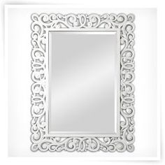 Ren-Wil High Gloss White Wall Mirror - 36W x 48H in.