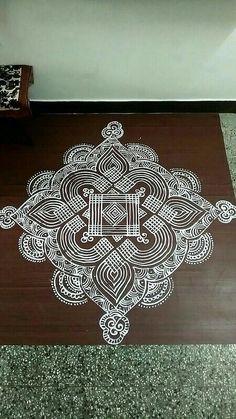 Indian Rangoli Designs, Rangoli Designs Flower, Rangoli Designs With Dots, Rangoli Designs Images, Beautiful Rangoli Designs, Rangoli Colours, Rangoli Patterns, Rangoli Ideas, Kolam Rangoli