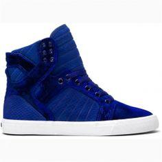 Supra shoes blue velvet