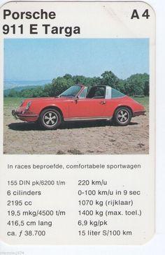 Porsche 911 E Targa Je had ze met auto's, vrachtwagens, tanks ... en dan de CC vergelijken de km's per huur .... ja hoor ook meisjes speelden dit ! Porsche 911, Top Trumps, Vintage Games, Old Cars, Cars And Motorcycles, Tanks, Classic Cars, Youth, Stickers