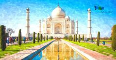 Taj Mahal sunrise tour on a full-day tour package to Agra from Delhi. visit one of the world-famous wonder Taj Mahal Agra, at best price. Taj Mahal India, Film Cars, India Holidays, Agra Fort, India Tour, By Train, Machu Picchu, India Travel, Travel Tips