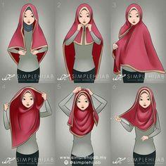Square hijab tutorial – most useful with a wide square hijab or a wide shawl. – Quraishath Shama Square hijab tutorial – most useful with a wide square hijab or a wide shawl. Square hijab tutorial – most useful with a wide square hijab or a wide shawl. Square Hijab Tutorial, Simple Hijab Tutorial, Hijab Style Tutorial, Pashmina Hijab Tutorial, Turban Hijab, Hijab Dress, Hijab Outfit, Stylish Hijab, Hijab Chic