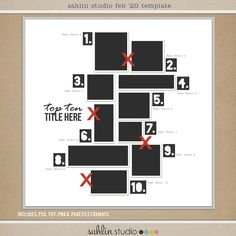 FREE Digital Scrapbooking Template / Sketch | February '20 | Sahlin Studio | Digital Scrapbooking Designs