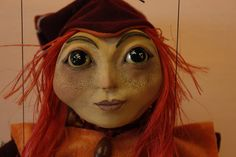 marionette little elf marioneta puppet ooak artdoll títere