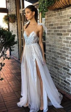 Hot Sexy A-Line V-Neck Prom Dress,Spaghetti Straps Tulle Prom Dresses,Long Prom Evening Dress With Appliques ,Long Prom Dress Blush Prom Dress, V Neck Prom Dresses, Tulle Prom Dress, Lace Evening Dresses, Event Dresses, Homecoming Dresses, Party Dresses, Evening Gowns, Wedding Dresses
