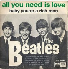 The Beatles all you need is love Beatles Album Covers, Beatles Albums, Rock Album Covers, Beatles Photos, Music Albums, The Beatles, Beatles Singles, Number One Hits, Ringo Starr