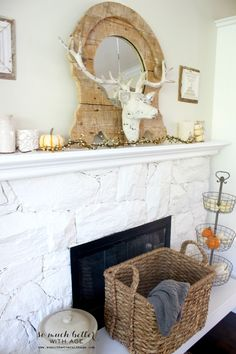 So Much Better With Age | Fall Home Tour | http://www.somuchbetterwithage.com- Love the big basket for blankets