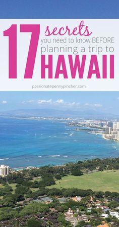 17! Geheimnisse für den perfekten Urlaub auf Hawaii