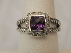 AFFORDABLE DAVID YURMAN ALBION AMETHYST SILVER & DIAMONDS RING OFFERS WELCOMED! #DavidYurman #Cocktail #ANY