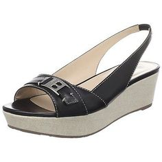 39842a09bec  395 NEW BOX BALLY US 5.5 EUR 36 Leather Open-Toe Wedge Slingblack Sandals  Shoes