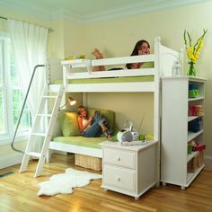 try this white bunk bed bunk beds kids dresser
