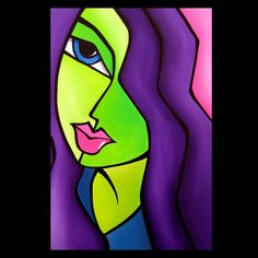 Art 'Pop 307 2436 Abstract Pop Art Dream Come True' - by Thomas C. Fedro from Pop Art Abstract Face Art, Abstract Portrait, Art Pop, Abstract Pictures, Art Pictures, 6th Grade Art, Pop Art Illustration, Chicago Artists, Illusion Art