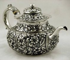 Whiting Sterling Silver Teapot, c1890