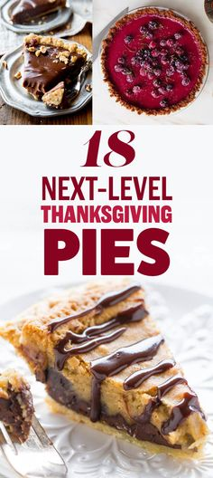 18 Next-Level Thanksgiving Pies. I will actually never make any of these, but I'm gonna pin it anyway. Pie Dessert, Cookie Desserts, Just Desserts, Delicious Desserts, Dessert Recipes, Holiday Pies, Holiday Recipes, Holiday Desserts, Good Pie