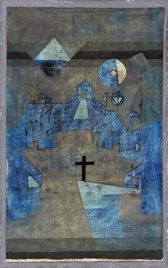 Paul Klee 1879 - 1940 DÜNENFRIEDHOF signed Klee (centre left) watercolour, pen and ink on card 46.3 by 36.2cm., 18 1/4 by 14 1/4 in. Executed in 1924. Estimation    786,400 - 1,179,600USD