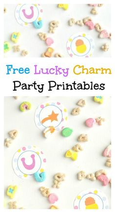 Free Lucky Charm Party Printables