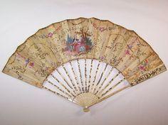 eventail ancien 18ème galanterie abanico Fächer ventaglio fan 18th century | eBay