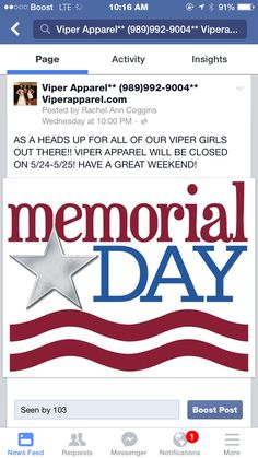 Viper apparel is closed today and Monday