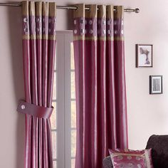 Sequin Circles Lined Eyelet Curtains