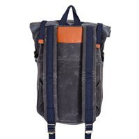 BUB Charcoal/Slate with blue waterproof zipper  Blind Chic.